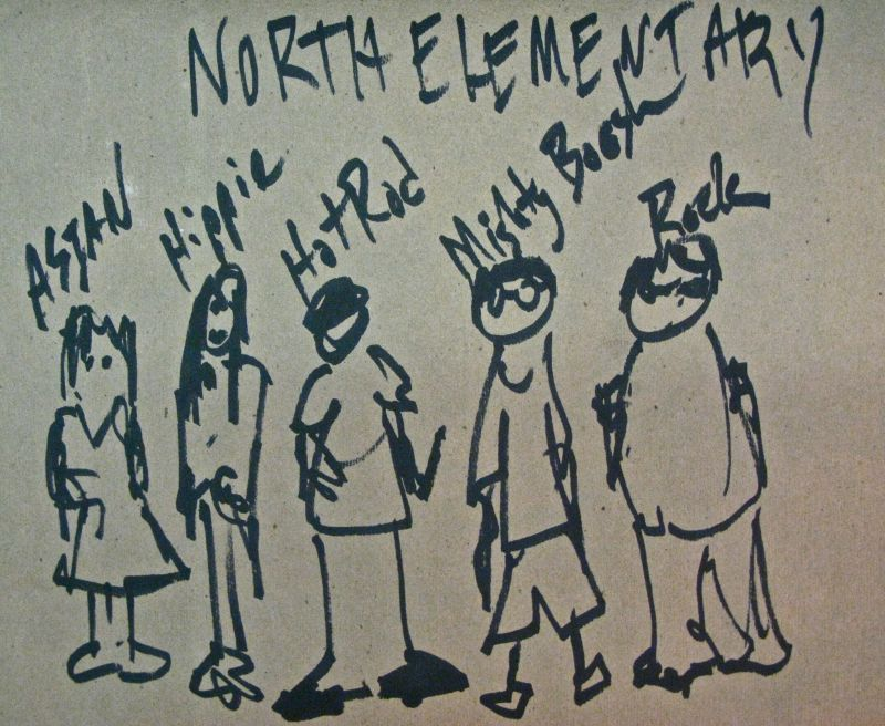 north elementary drawing sketch illustration john harrison